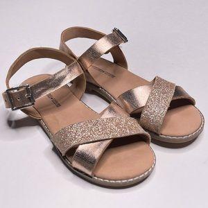 Tucker + Tate Metallic Glitter Criss Cross Sandal
